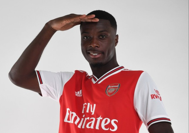 Nicolas Pepe is Arsenal's record signing for £72 million