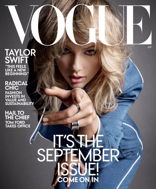 Taylor Swift cover Vogue September issue