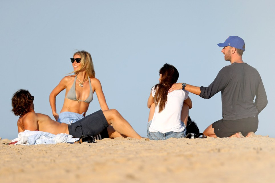Gwyneth Paltrow & Brad Falchuk and Chris Martin and Dakota Johnson