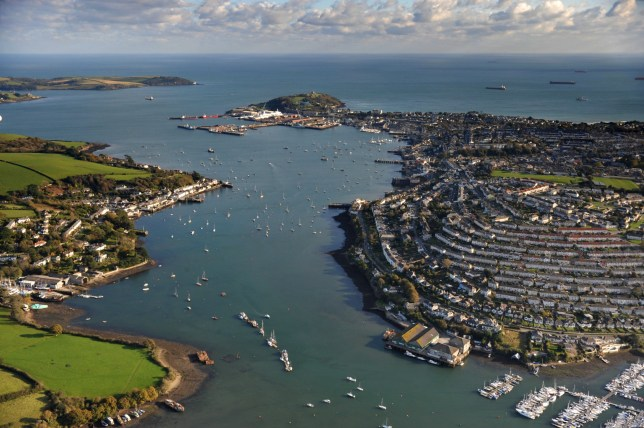 an aerial view of CORNWALL, ENGLAND