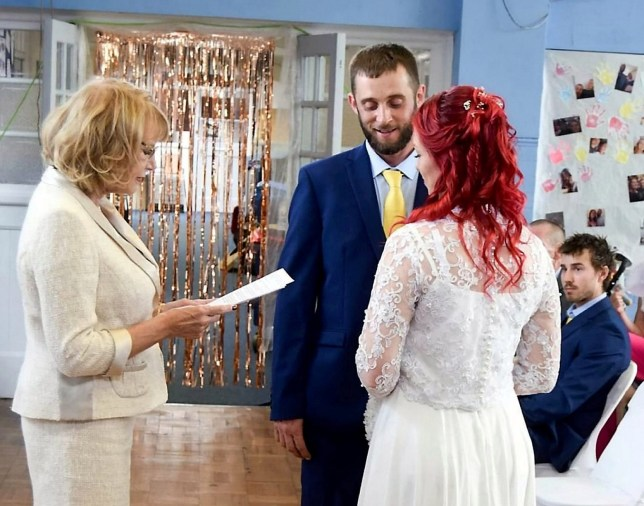 Couple get married in the school hall where they met 27 years ago