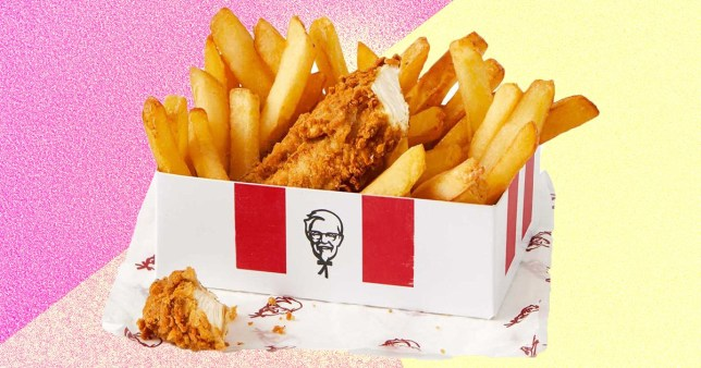 kfc free snack box for a level students