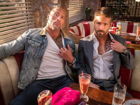Ryan Reynolds and Dwayne 'The Rock' Johnson take bromance to the next level with matching chest 'tattoos'