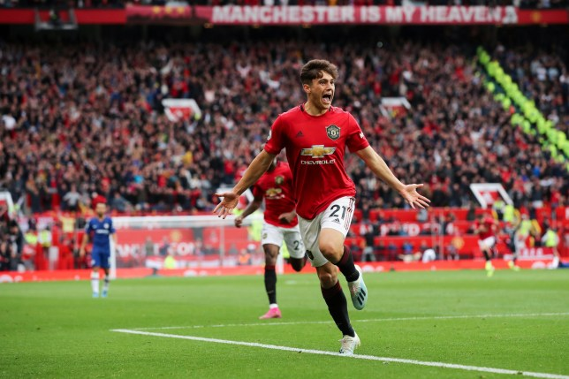 Daniel James scored on his debut as Manchester United beat Chelsea