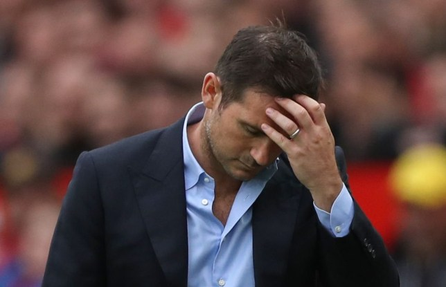 Frank Lampard's Chelsea were beaten 4-0 by Manchester United earlier this season