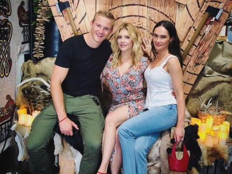 Vikings' Alexander Ludwig joins co-star girlfriend Kristy Dawn Dinsmore in sweet 'fam jam' picture