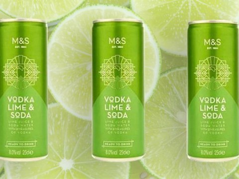 Marks & Spencer launches cans of vodka, lime and soda for £2