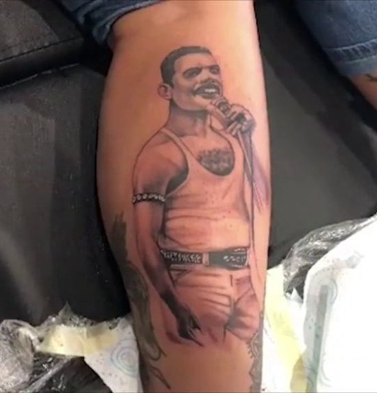 Jodie Marsh Freddie Mercury tattoo
