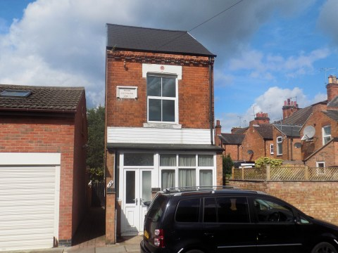 A 13ft wide detached house in Leicester is on sale for £150,000