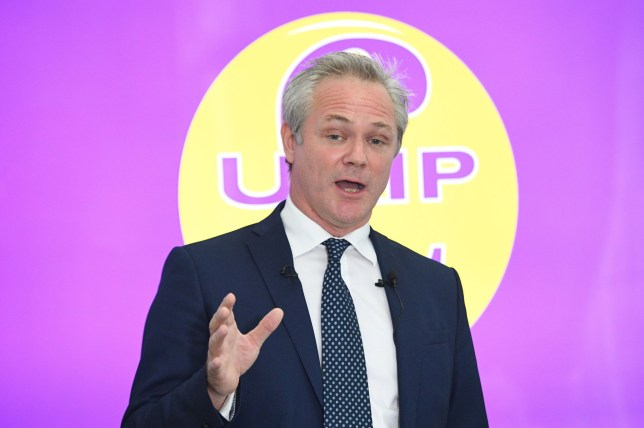 Newly-installed UKIP leader Richard Braine speaks at a press conference at Church House in Westminster, London. PRESS ASSOCIATION Photo. Picture date: Wednesday August 14, 2019. See PA story POLITICS Ukip. Photo credit should read: Stefan Rousseau/PA Wire