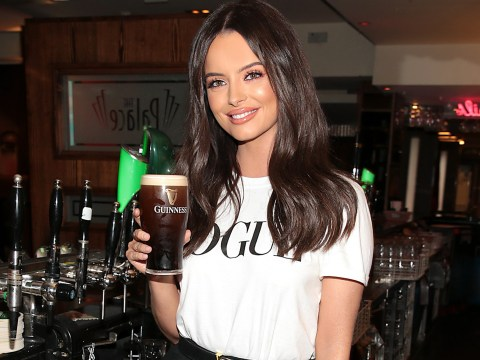 Love Island's Maura Higgins shows up and starts pulling pints at exams party