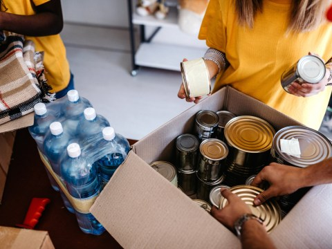 Where can you get help if you're struggling with holiday hunger?