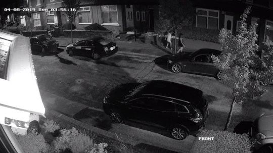 CCTV grabs. Greenway Avenue, Levenshulme (Picture: Gerry Finn)