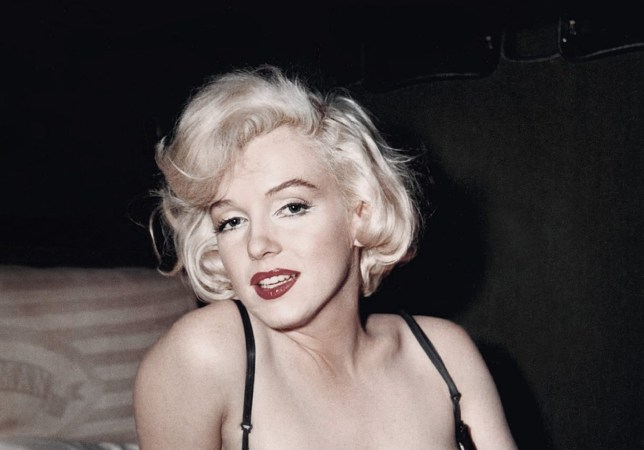 Marilyn Monroe poses for a publicity still for the 20th Century Fox film 'Some Like it Hot' in 1959