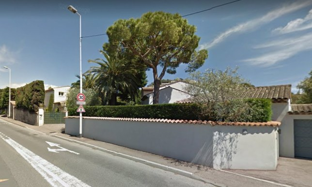 Google street view of 52 Route des Br?gui?res, Le Cannet, France Brit in intensive care after falling from French Riviera balcony during passionate sex session