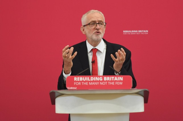 Labour leader Jeremy Corbyn makes a speech during a visit to Pen Green Children's Centre in Corby, Northamptonshire. PRESS ASSOCIATION Photo. Picture date: Monday August 19, 2019. See PA story POLITICS Labour. Photo credit should read: Joe Giddens/PA Wire