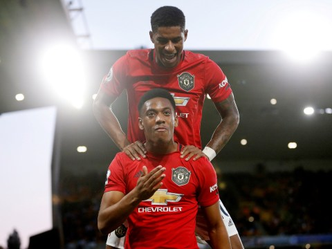 Anthony Martial plays down rivalry with Marcus Rashford for Manchester United's centre-forward spot
