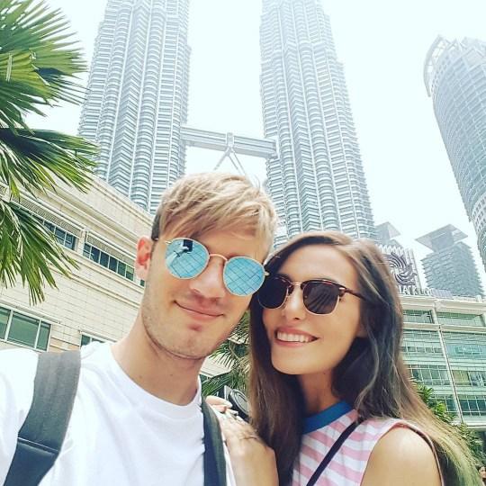 PewDiePie and Marzia wedding instagram