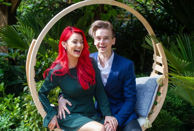 Mandatory Credit: Photo by INS News Agency Ltd/REX (10244031z) Dianne Buswell and Joe Sugg RHS Chelsea Flower Show, Press Day, London, UK - 20 May 2019