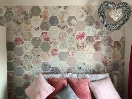 Mum Creates Amazing Feature Wall Using Free Wallpaper