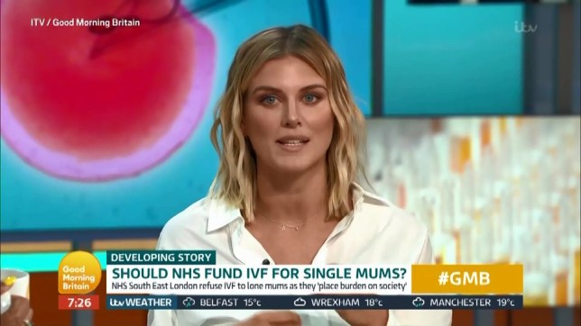 IVF for single mums Picture: ITV/ GMB METROGRAB