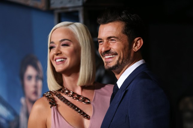 """HOLLYWOOD, CALIFORNIA - AUGUST 21: Katy Perry and Orlando Bloom attend the LA premiere of Amazon's """"Carnival Row"""" at TCL Chinese Theatre on August 21, 2019 in Hollywood, California. (Photo by Phillip Faraone/Getty Images)"""