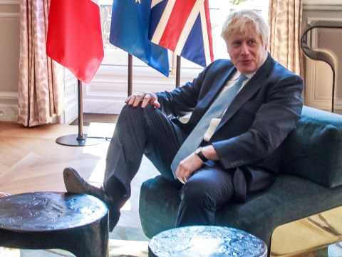 Is this Boris's version of Donald Trump's power play as he puts feet on table?