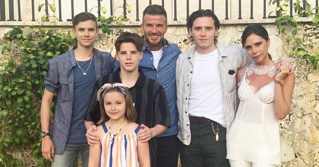 Image result for david beckham and family 2019