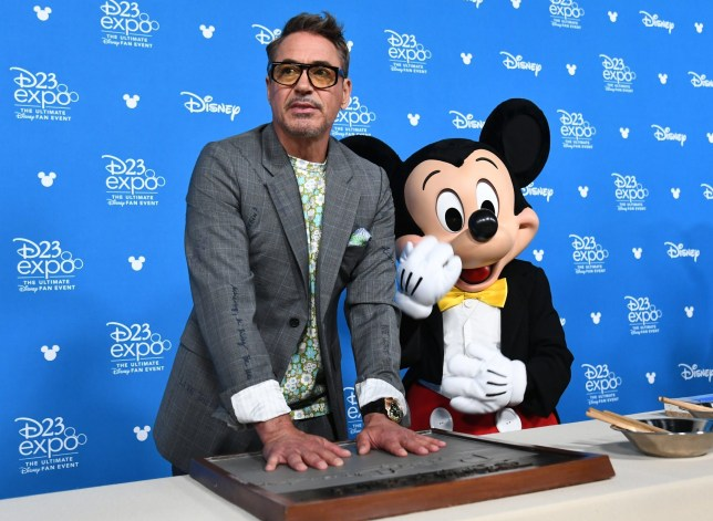 **IMAGE OUTSIDE OF SUBSCRIPTION DEAL, FEES APPLY, PLEASE CONTACT YOUR ACCOUNT MANAGER** Mandatory Credit: Photo by Michael Buckner/Variety/REX (10369379bp) Robert Downey Jr. Disney Legends Ceremony, Arrivals, D23 Expo, Anaheim, USA - 23 Aug 2019