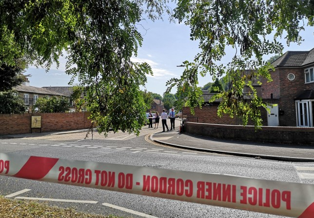 Police tape near the scene in Southall where London's latest murder victim begged to see his wife after he was stabbed when leaving a pub in a leafy suburb. PRESS ASSOCIATION Photo. Issue date: Sunday August 25, 2019. A suspect has been arrested after the victim, a man in his 60s, was attacked in west London on Saturday evening. See PA story POLICE Southall. Photo credit should read: Lewis Pennock/PA Wire
