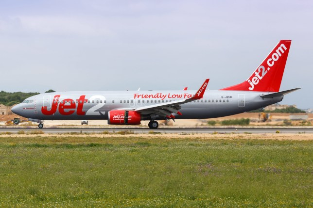 Palma de Mallorca, Spain - May 12, 2018: Jet2 Boeing 737 airplane at Palma de Mallorca airport (PMI) in Spain. | usage worldwide