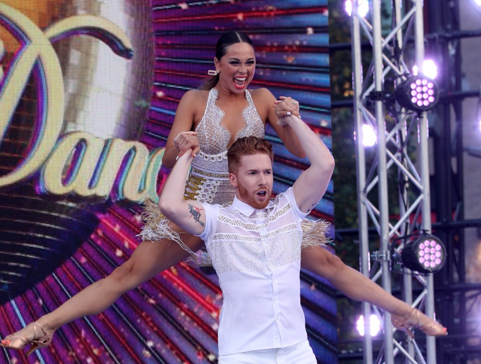 """Neil Jones and Katya Jones attend the """"Strictly Come Dancing"""" launch show"""