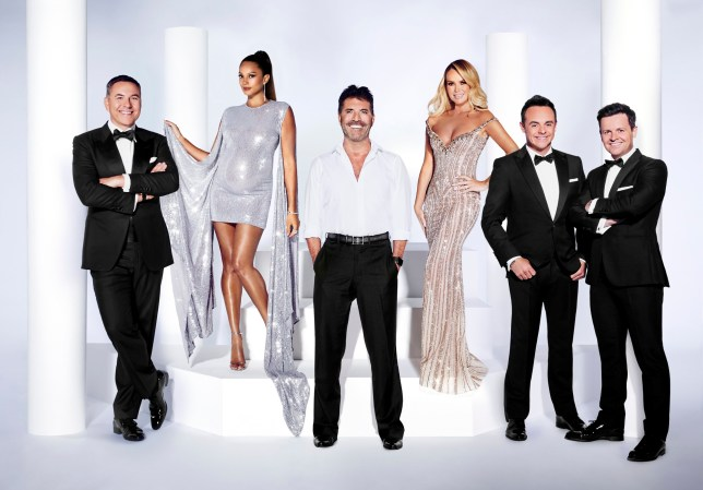 britain's got talent presenters ant and dec and judges david walliams, alesha dixon, simon cowell and amanda holden