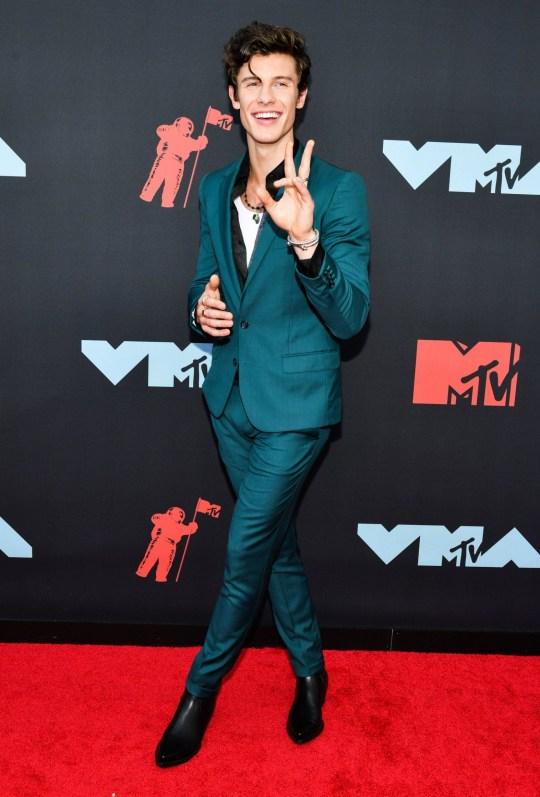Mandatory Credit: Photo by Erik Pendzich/REX (10369348au) Shawn Mendes MTV Video Music Awards, Arrivals, Prudential Center, New Jersey, USA - 26 Aug 2019