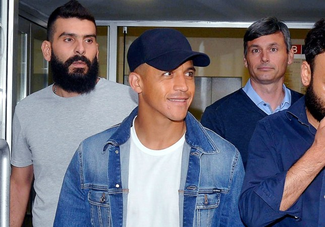 Alexis Sanchez arrived in Inter Milan to complete a loan move from Manchester United