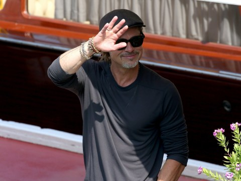Brad Pitt's aquatic arrival at Venice Film Festival by boat is just too cool