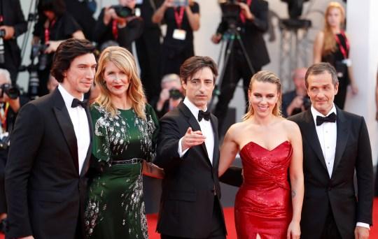 Adam Driver, Laura Dern and Scarlett Johansson