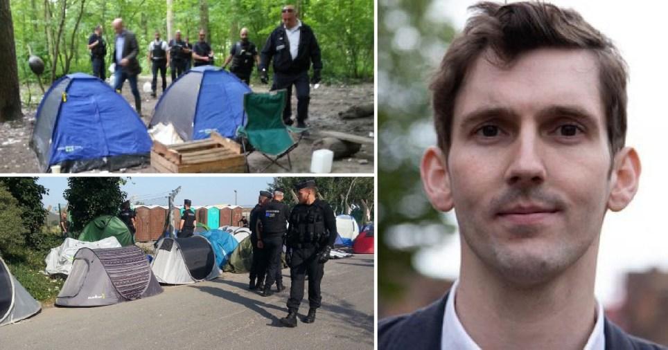 Police in Calais and British activist Ciotkowski