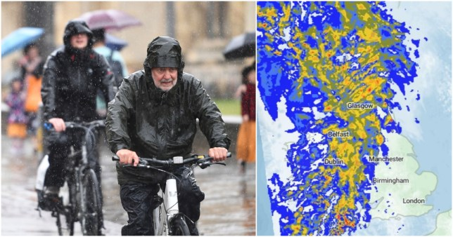 Met Office UK weather forecast for severe rain across Wales, north west and south west