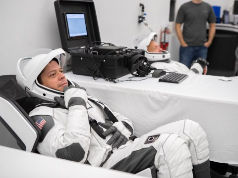 Nasa astronauts 'suit-up' in SpaceX's futuristic spacesuits for the first time