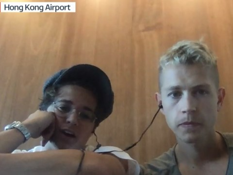 The Vamps back Hong Kong demonstrators as band are caught in airport shutdown
