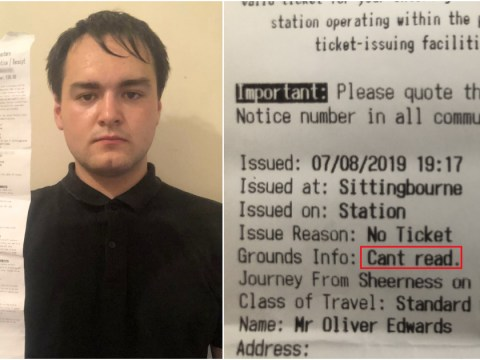 Train firm fines dyslexic student because he 'can't read'