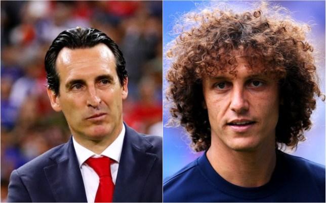 Unai Emery is set to be reunited with David Luiz at Arsenal