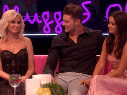 Love Island fans are not OK with Amy Hart sitting next to Curtis Pritchard during reunion… and listening to him talk about having sex with Maura