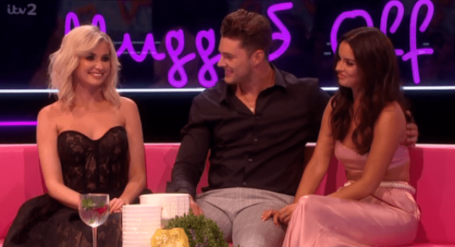 Love Island's Curtis Pritchard, Amy Hart and Maura Higgins