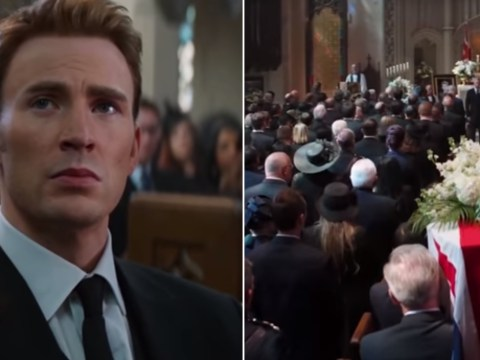Avengers: Endgame writers address fan theory surrounding Captain America at Peggy Carter's funeral