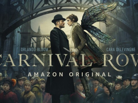 Cara Delevingne and Orlando Bloom in bizarre mythical sex scene in Carnival Row trailer