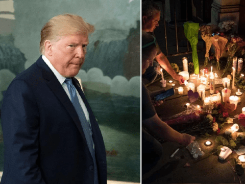 Donald Trump names wrong city when paying tribute to mass shooting victims
