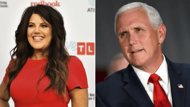 Monica Lewinsky teases Mike Pence after he tells people to spend more time on their knees