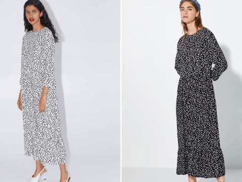 Zara launches a black version of that cult spotty summer dress